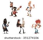 set of cartoon funny rock...
