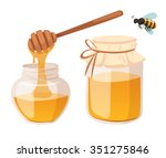 Honey Bank And Stick Vector...