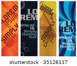 banner design | Shutterstock .eps vector #35128117