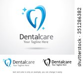 dental care logo template... | Shutterstock .eps vector #351286382