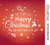 christmas and new year... | Shutterstock .eps vector #351287222