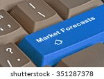 keyboard with key for market... | Shutterstock . vector #351287378