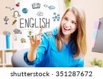 english concept with young... | Shutterstock . vector #351287672