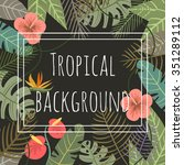 tropical vector background with ... | Shutterstock .eps vector #351289112