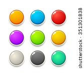colorful game buttons. gui... | Shutterstock . vector #351301838