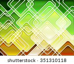 abstract geometric mosaic... | Shutterstock .eps vector #351310118