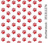 Seamless Pattern Of Cat Paw...