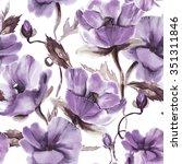 floral seamless pattern | Shutterstock . vector #351311846