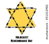 holocaust remembrance day.... | Shutterstock .eps vector #351313982