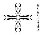 tribal tattoo design  vector... | Shutterstock .eps vector #351318512