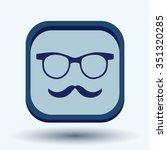 mustache and glasses. hipster...   Shutterstock .eps vector #351320285