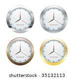 metal clock | Shutterstock .eps vector #35132113