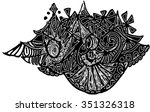 black vector of imagination... | Shutterstock .eps vector #351326318
