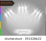 white vector spotlight light... | Shutterstock .eps vector #351328622