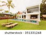 luxury tropical villa | Shutterstock . vector #351331268
