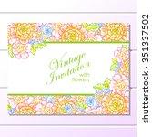 vintage delicate invitation... | Shutterstock .eps vector #351337502