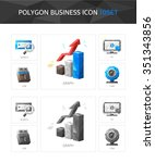 business polygon icon set | Shutterstock .eps vector #351343856