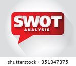 swot analysis message bubble ... | Shutterstock . vector #351347375