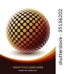 colorful digital globe design...   Shutterstock .eps vector #35136202