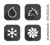 hvac icons. heating ... | Shutterstock .eps vector #351362126