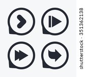 arrow icons. next navigation...   Shutterstock .eps vector #351362138