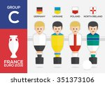 players with flags of european... | Shutterstock .eps vector #351373106