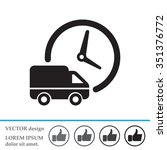 fast delivery icon silhouette... | Shutterstock .eps vector #351376772