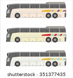 low floor city  bus  | Shutterstock .eps vector #351377435