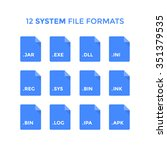 flat system file type icons.... | Shutterstock .eps vector #351379535
