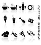 black food icons easy tot... | Shutterstock .eps vector #35138140