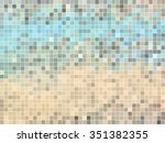 abstract square pixel mosaic... | Shutterstock .eps vector #351382355