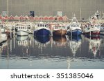 boats in a port | Shutterstock . vector #351385046