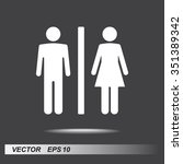 male and female sign icon ... | Shutterstock .eps vector #351389342