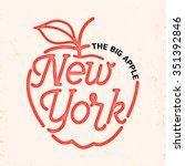 new york city typography line... | Shutterstock .eps vector #351392846
