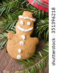 colorful christmas gingerbread...   Shutterstock . vector #351396218