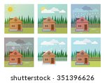 set of weather icons.... | Shutterstock .eps vector #351396626