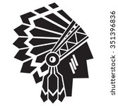 american indian avatar | Shutterstock .eps vector #351396836