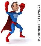 fun superhero | Shutterstock . vector #351398126