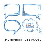 4 handdrawn communication... | Shutterstock .eps vector #351407066