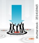 hitting target market business... | Shutterstock .eps vector #351410465