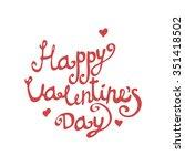 valentines day vintage... | Shutterstock .eps vector #351418502