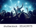 dj in front of crowd | Shutterstock . vector #351419975