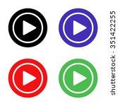 play button vector icon  ... | Shutterstock .eps vector #351422255