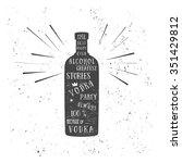 texture vodka bottle vector... | Shutterstock .eps vector #351429812