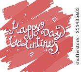 valentines day vintage...   Shutterstock .eps vector #351435602