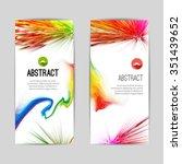 set of creative trendy vertical ... | Shutterstock .eps vector #351439652