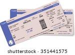 airline boarding pass ticket... | Shutterstock .eps vector #351441575