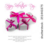 heart shaped gifts and hearts... | Shutterstock . vector #351443375