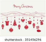 merry christmas greeting card... | Shutterstock .eps vector #351456296