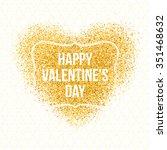 vintage postcard. gold sparkles ... | Shutterstock .eps vector #351468632